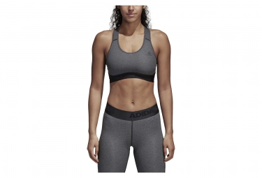 adidas running Alphaskin Sports Bra Dark Grey