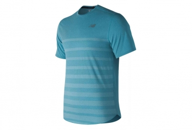 T shirt new balance speed jacquard bleu l