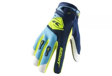 Kenny Track Kid Gloves Navy / Cyan