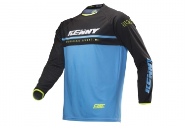 Kenny Elite Long Sleeves Kid Jersey Cyan / Black