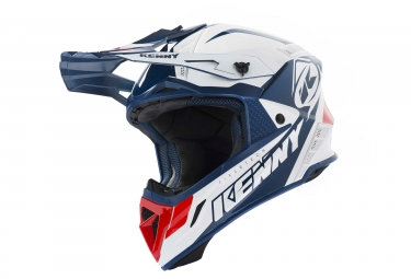 Casque kenny trophy blanc rouge xs 53 54 cm