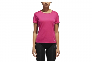 Maillot Manches Courtes Femme adidas running Run Rose
