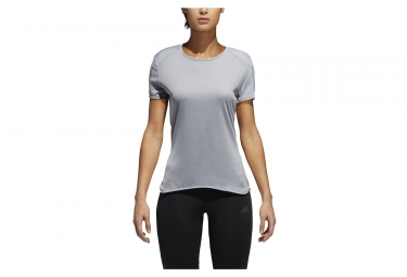 Maillot Manches Courtes Femme adidas running Response Gris