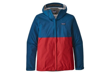 Veste impermeable patagonia torrentshell bleu rouge l