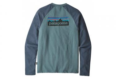 Sweat Patagonia P-6 Logo Lightweight Crew Bleu Gris