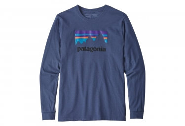 T shirt manches longues patagonia shop sticker responsibili tee bleu l