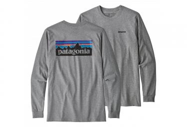 Patagonia  Long Sleeves P-6 Logo Responsibili-Tee Gris