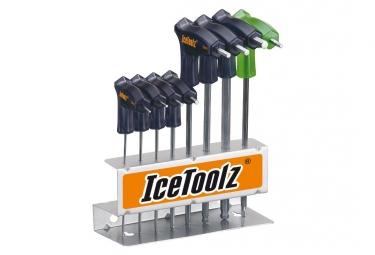 Set de clé Allen en T 2~8mm et Torx 25 ICE TOOLZ 7M85