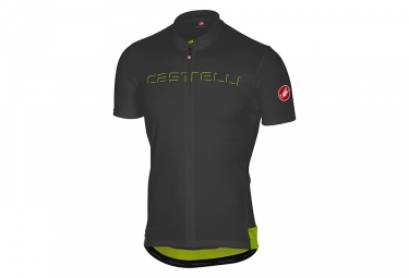 castelli prologo short sleeves jersey anthracite grey s