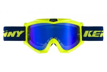 Masques kenny track jaune fluo bleu enfant