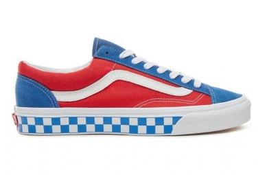Chaussures Vans BMX Checherboard Style 36 Bleu / Rouge