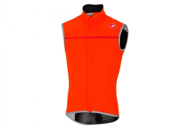 Veste coupe vent sans manches castelli perfetto orange l