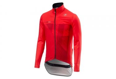 Castelli Pro Fit Wasserdichte Jacke Rot
