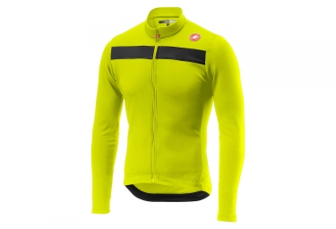 Castelli Puro 3 Long Sleeves Jersey Neon Yellow