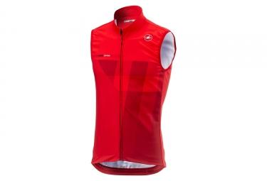 Veste thermique sans manches castelli thermal pro rouge l