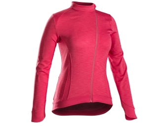 Maillot manches longues femme bontrager vella thermal rose xl