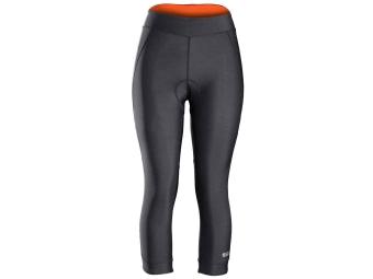 Cuissard velo 3 4 sans bretelles femme bontrager vella noir orange m