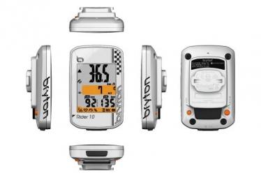 BRYTON Compteur GPS Rider 10C Blanc + Capteur Cadence