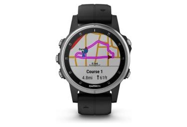 Fenix 5s Plus Sport Watch Silver Black