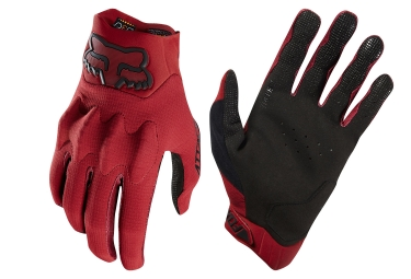 Fox Attack D3O Long Gloves Red