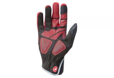 Gants Longs Castelli Scalda Pro Rouge Noir