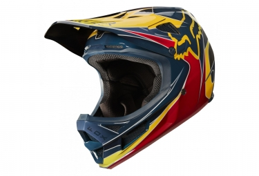 Casque Fox Rampage Pro Carbon KUSTM Rouge / Jaune