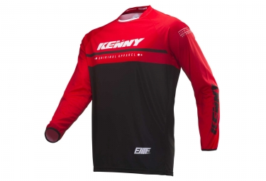 Camiseta De Manga Larga Para Ninos Kenny Elite  Negro   Rojo 3 4 Anos