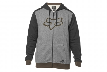 Fox Desktrakt Zip Fleece Hoodie Graphite