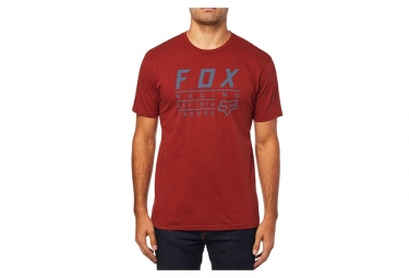 Tee shirt manches courtes fox trademark premium tee rouge l