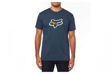 Tee shirt manches courtes fox czar head premium bleu m