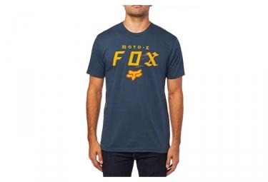 Tee shirt manches courtes fox moto x premium bleu marine m