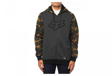 Fox PO with Hood Destrakt Zip Fleece Camo