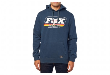 Fox Throwback Pullover with Hood  Fleece Navy