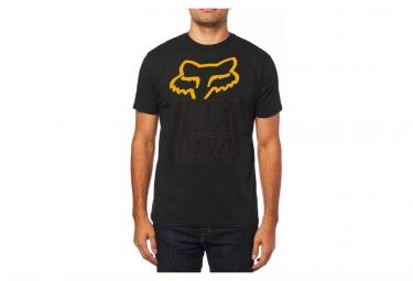 Tee shirt manches courtes fox blasted premium noir l
