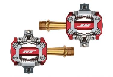 Paire de pedales vtt ht components m1 titane rouge