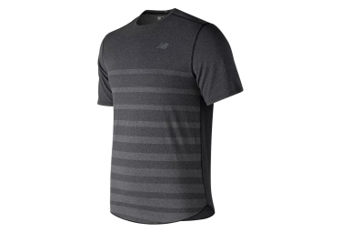 T shirt new balance speed jacquard gris homme l