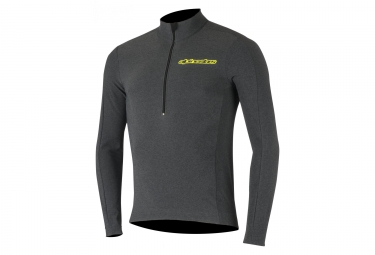 Maillot manches longues alpinestar booter warm gris jaune l