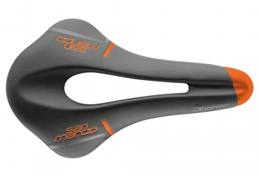 Selle san marco shortfit racing wide noir orange