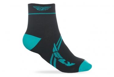 Paire de Chaussettes Fly Racing Action Bleu Turquoise/Noir