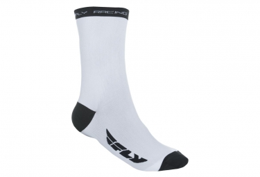 Calcetines Fly Racing Crew Blanco