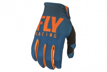 Fly Racing Lite Gloves - Bleu / Orange