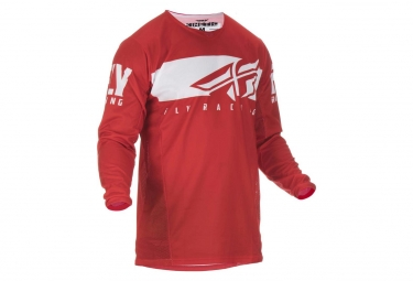 Fly Racing Kinetic Shield Kid Jersey Rojo / Blanco