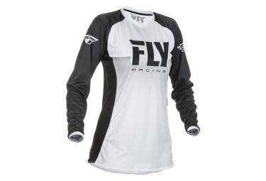 Maillot Fly Racing Lite Femme Blanc/Noir