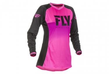 Maillot fly racing lite femme neon rose noir s