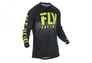 Maillot fly racing lite hydrogen jaune fluo noir s