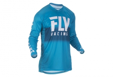 Maillot fly racing lite hydrogen bleu blanc s