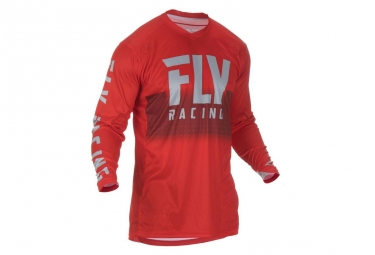 Maillot fly racing lite hydrogen rouge gris s