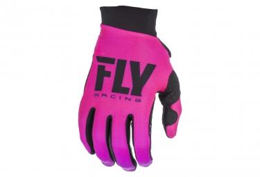 Gants fly racing pro lite femme neon rose noir xs