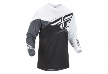 Fly Racing F-16 Jersey Negro / Blanco / Gris