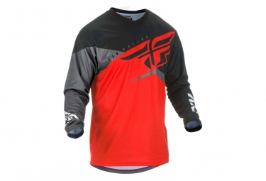 Maillot Fly Racing F-16 Rouge/Noir/Gris